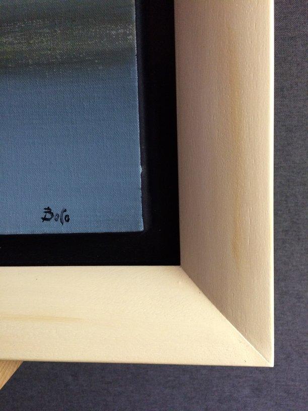 détail du cadre comprenant 2 baguettes, une caisse américaine et une baguette arrondie