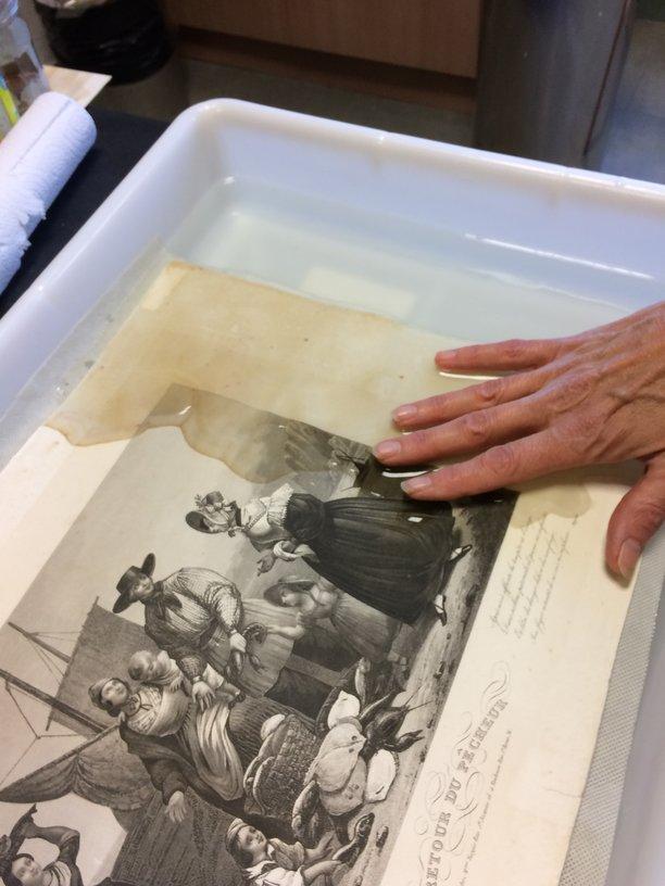 nettoyage aqueux d'une gravure